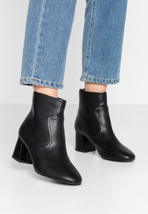 WIDE FIT ADDA HEEL - Ankle boots - black
