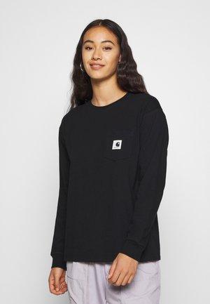 POCKET - Camiseta de manga larga - black