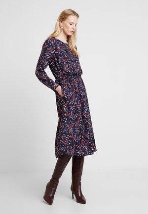 DRESS WITH PINTUCKS - Shirt dress - navy blue