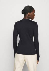 Calvin Klein Jeans - LOGO LONG SLEEVES - Long sleeved top - black - 2