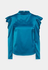 Who What Wear - HIGH NECK - Blouse - dark teal - 4