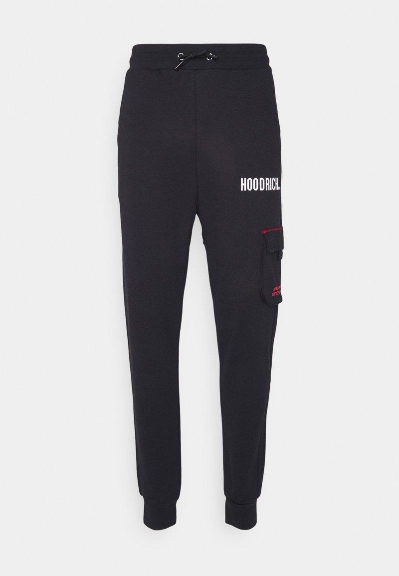 Hoodrich - FLEX CARGO JOGGERS - Cargo trousers - black/red
