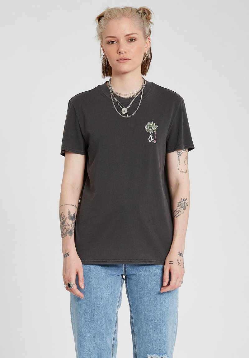 Volcom - LOCK IT UP TEE - Print T-shirt - black