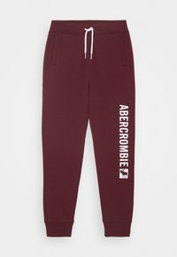 Abercrombie & Fitch - LOGO - Tracksuit bottoms - burg - 0