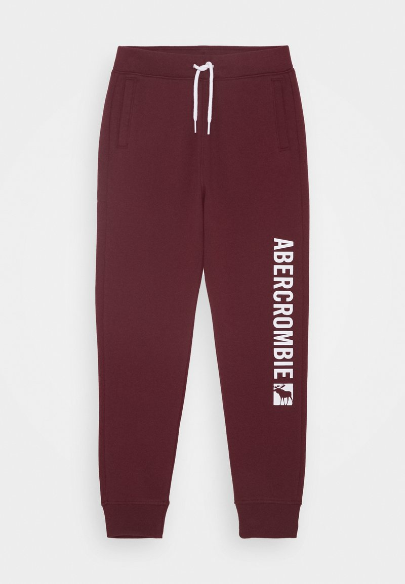 Abercrombie & Fitch - LOGO - Tracksuit bottoms - burg