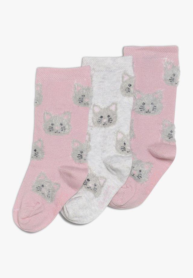 3 PACK - Knee high socks - altrosa/hellsilber