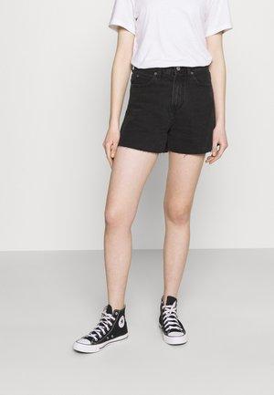 NORA - Szorty jeansowe - charcoal black