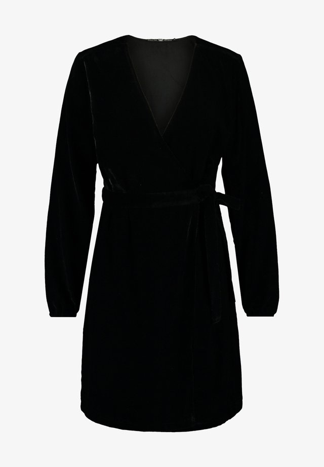 Korte jurk - shiny black