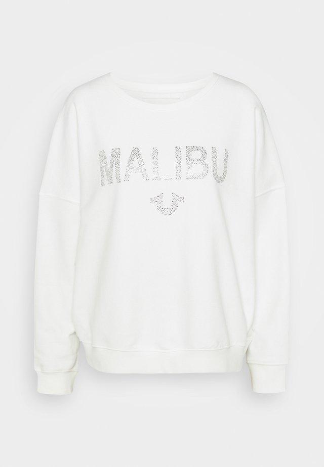BOXY CREW NECK MALIBU - Felpa - blanc