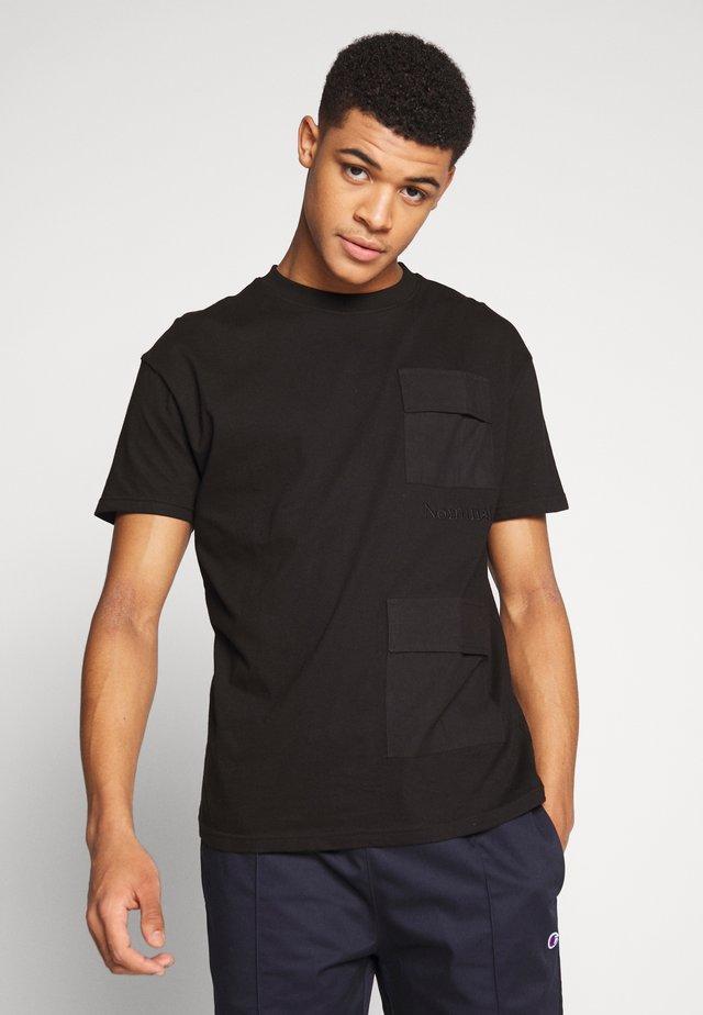 PARKER TEE - T-shirt imprimé - black