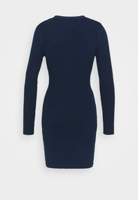 Glamorous - LOW FRONT MINI DRESS WITH LONG SLEEVES - Jumper dress - navy - 1