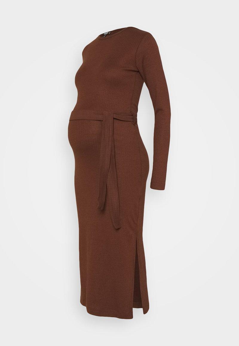Missguided Maternity - SIDE MIDI DRESS - Žerzejové šaty - chocolate