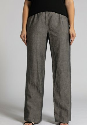 COUPE LARGE, PO - Trousers - gris hiver chiné