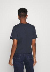 Tommy Jeans - LINEAR LOGO TEE - T-shirt basic - twilight navy - 2