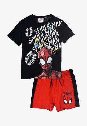 SPORT HOSE UND SHIRT SET - Shorts - black red
