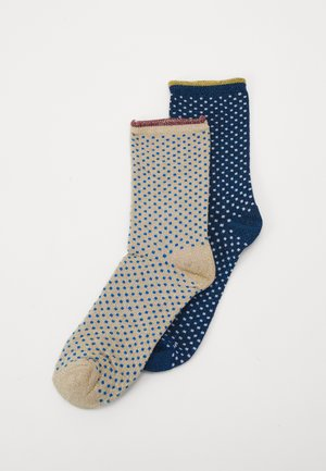 DINA SMALL DOTS 2 PACK - Socks - blue/twilight