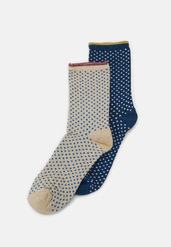 DINA SMALL DOTS 2 PACK - Socks - blue/twilight