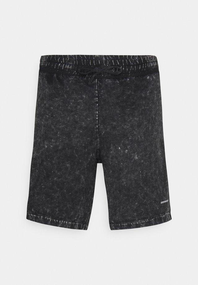 ACID WASH - Shorts - black