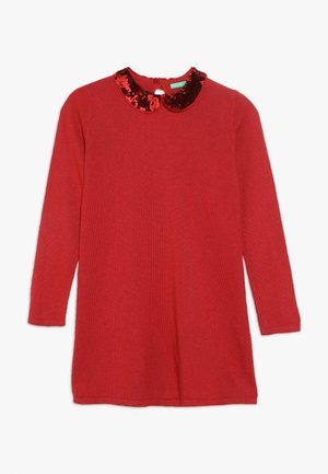 DRESS - Jumper dress - red