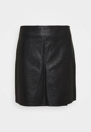 PETITES MINI SKIRT - A-line skirt - black