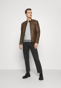 Strellson - DERRY - Leather jacket - tobacco - 1