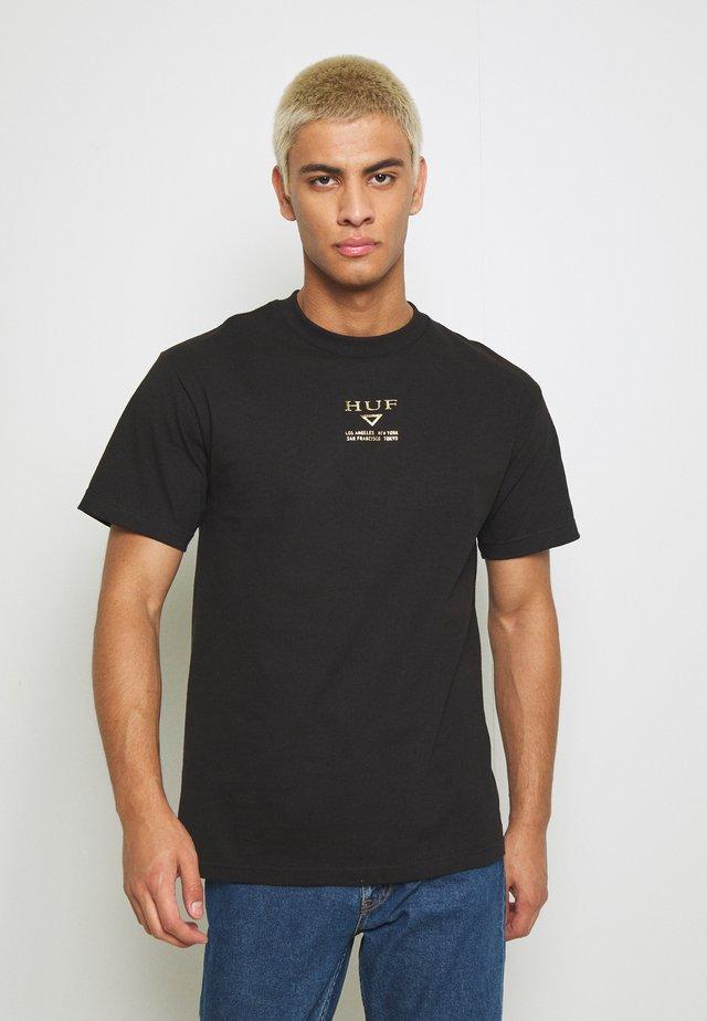 HUFEX TEE - T-shirt imprimé - black