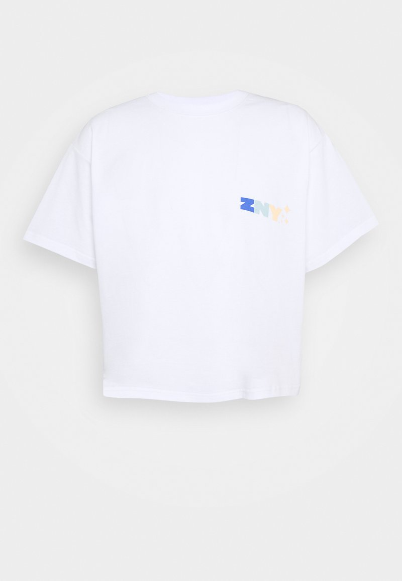 Ziq and Yoni - UNISEX CROPPED TEE - T-shirt print - white