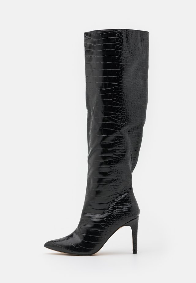 TUBULAR BOOTS - Over-the-knee boots - black