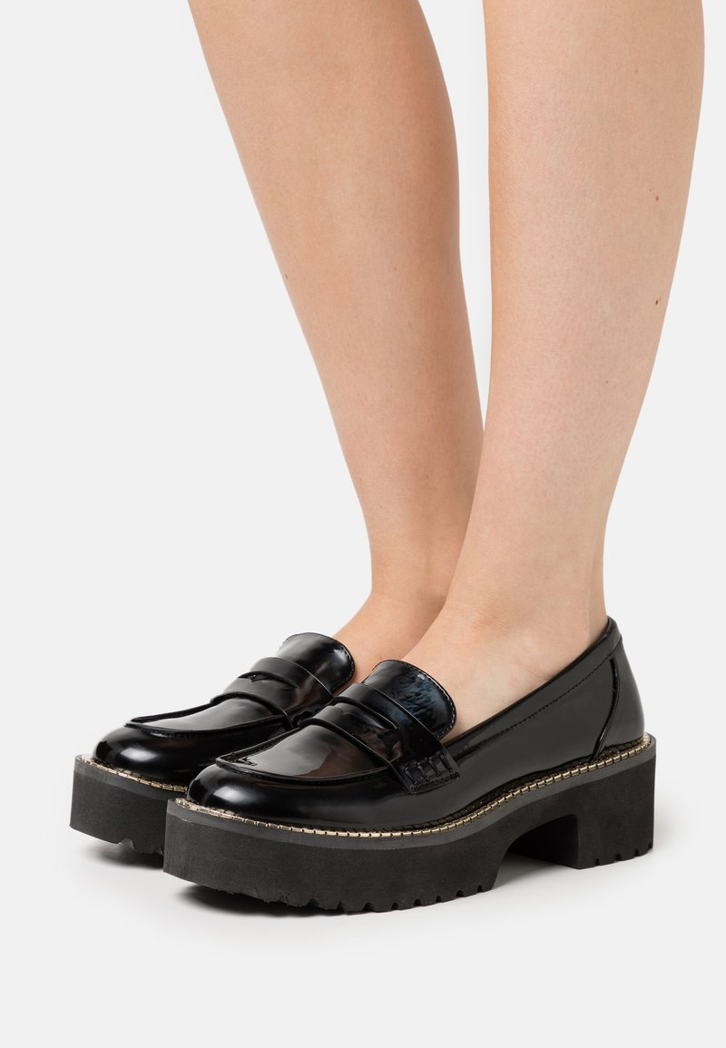 DKNY - ALZ LOAFER LUG - Slippers - black