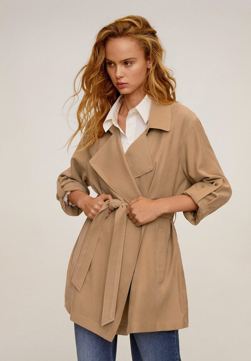 Mango - GUARDAPO - Trenchcoat - beige