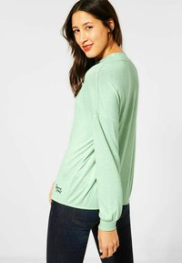 Street One - MIT STEHKRAGEN - Long sleeved top - grün - 2