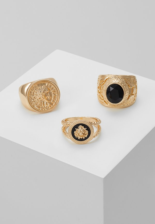 LION HEAD RING SET - Sormus - gold-coloured