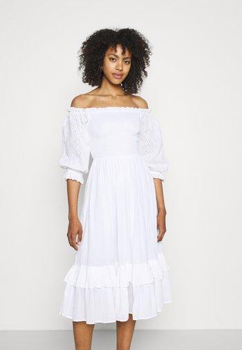 ELEANOR MIDI - Korte jurk - white