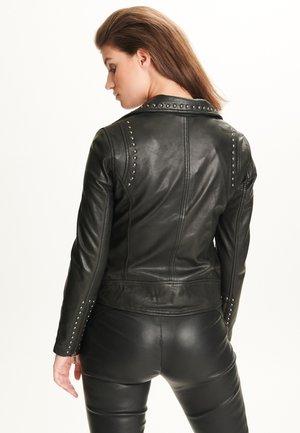 ANNA - Leather jacket - black