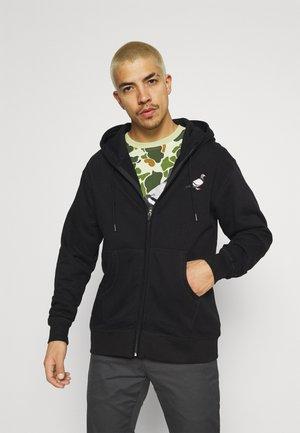 FULL ZIP HOODIE - Zip-up hoodie - black