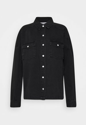 IHOLINA - Button-down blouse - washed black