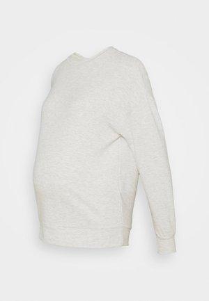 PCMRELAX BLOUSE - Sweatshirt - light grey melange