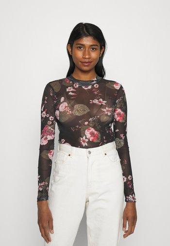 Long sleeved top - black/pink