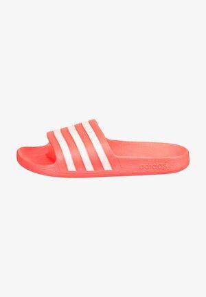 ADILETTE AQUA - Pool slides - signal pink/footwear white