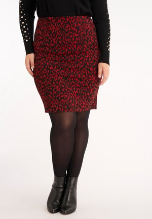 WITH PRINT - Pencil skirt - multi-color
