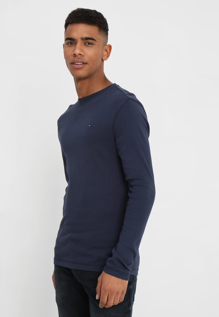Tommy Jeans - ORIGINAL SLIM FIT - Long sleeved top - black iris
