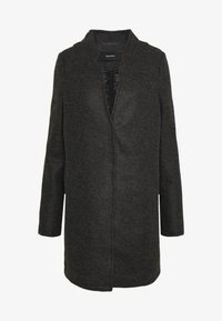 Vero Moda Tall - VMBRUSHEDKATRINE JACKET - Classic coat - dark grey melange - 4