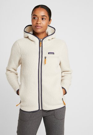 RETRO PILE HOODY - Fleece jacket - pelican
