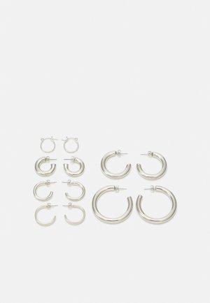 EARRINGS 6 PACK - Korvakorut - silver-coloured