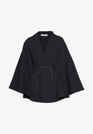 BELTED CAPE - Poncho - ink