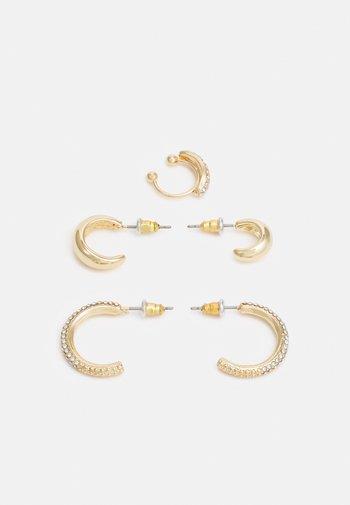 PIRAWIN 3 PACK - Earrings - gold-coloured