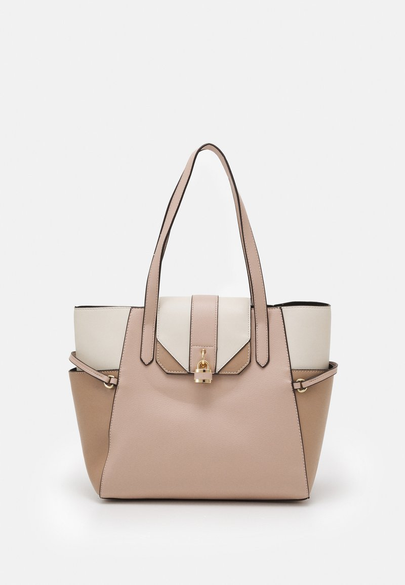 Dorothy Perkins - PADLOCK SHOPPER - Tote bag - blush