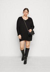 New Look Curves - BATWING MINI - Shift dress - black - 1