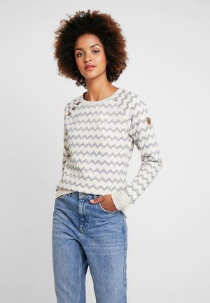 DARIA ZIG ZAG - Sweatshirt - beige