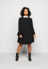 Even&Odd Curvy - Day dress - black - 1